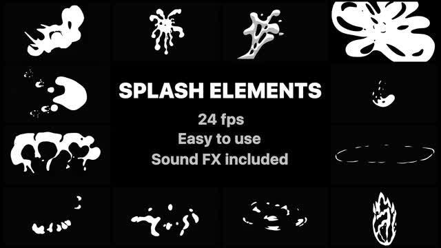 Flash FX Splash Elements: Stock Motion Graphics