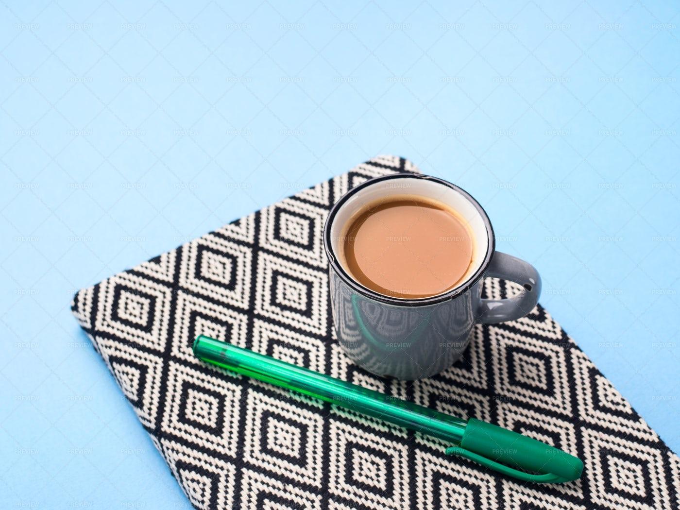 Planning Agenda And Coffee: Stock Photos