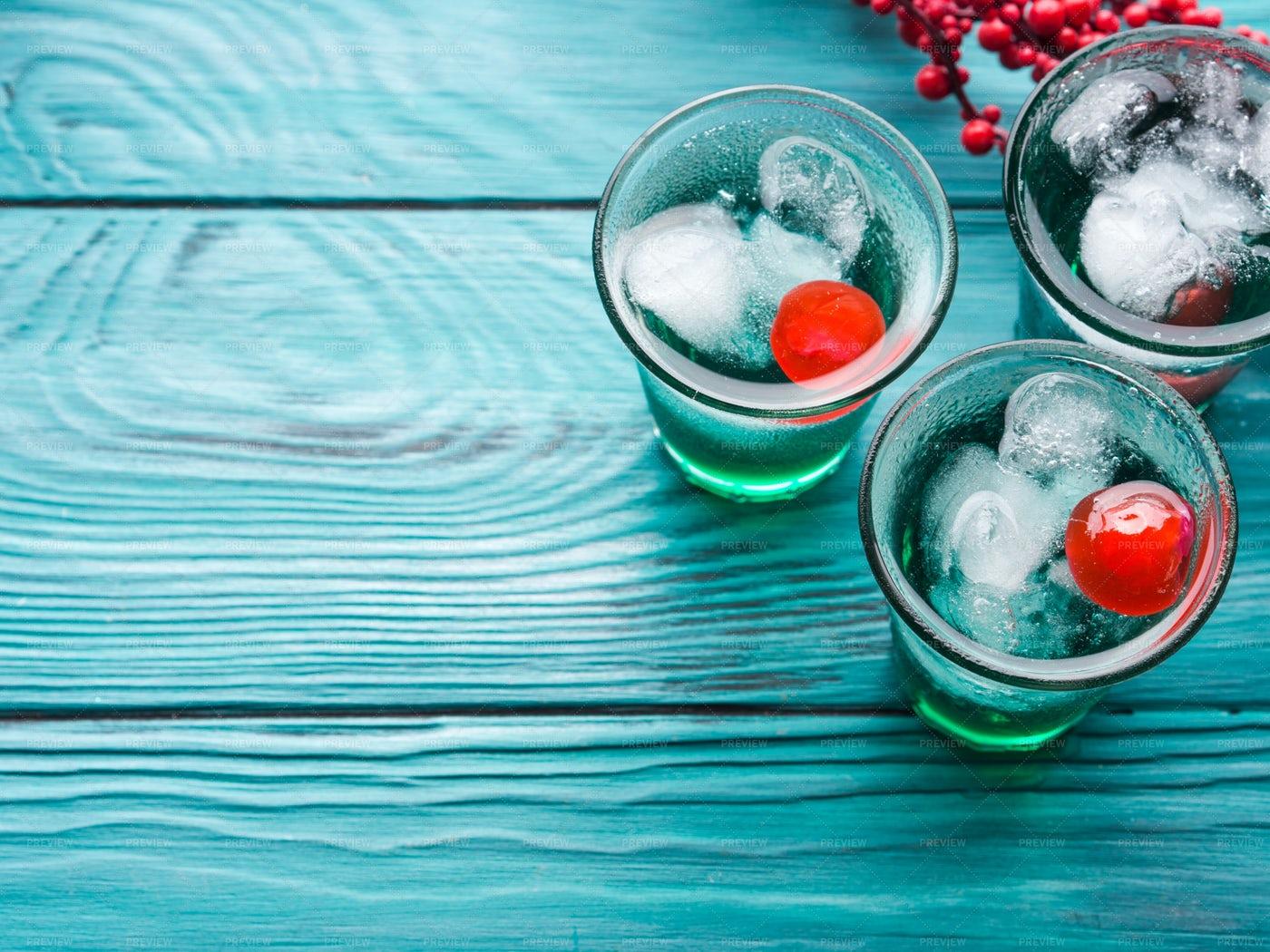 Green Iced Drinks: Stock Photos