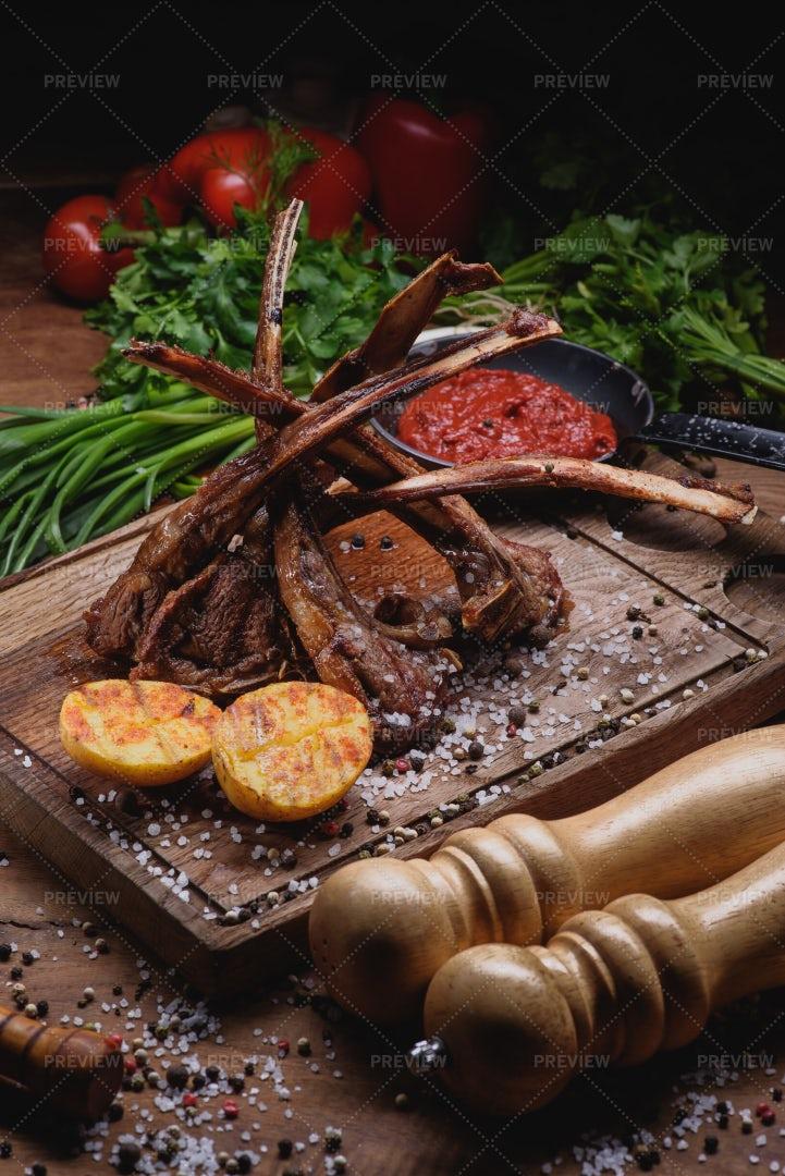 Lamb Ribs: Stock Photos