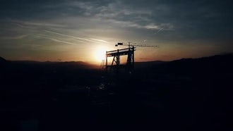 Time Lapse Of Construction Crane : Stock Footage