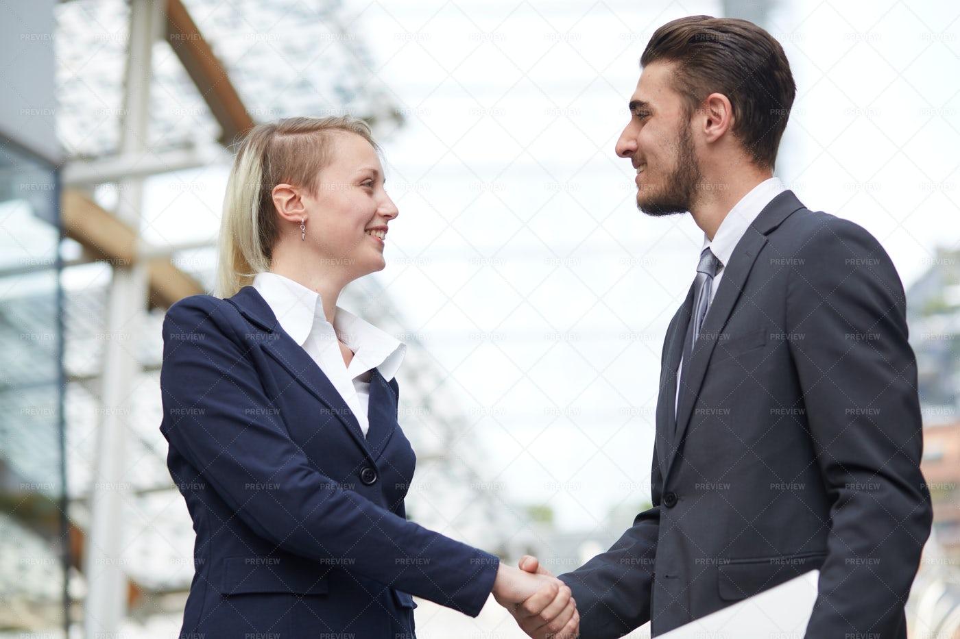 Handshake During A Meeting: Stock Photos