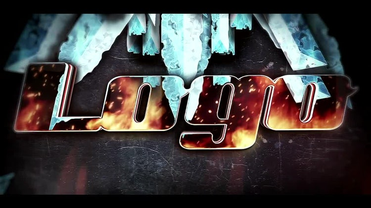 Ice Fire Logo: After Effects Templates
