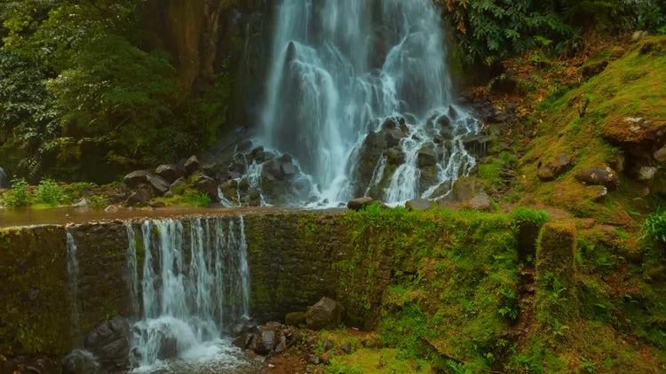 Waterfalls On São Miguel Island: Stock Video