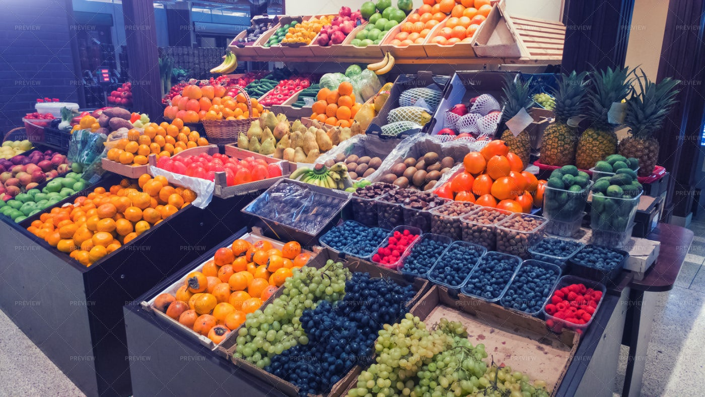 Fruit Market Stall: Stock Photos