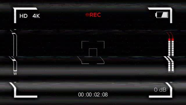 Distorted Camera Screen Display: Stock Motion Graphics