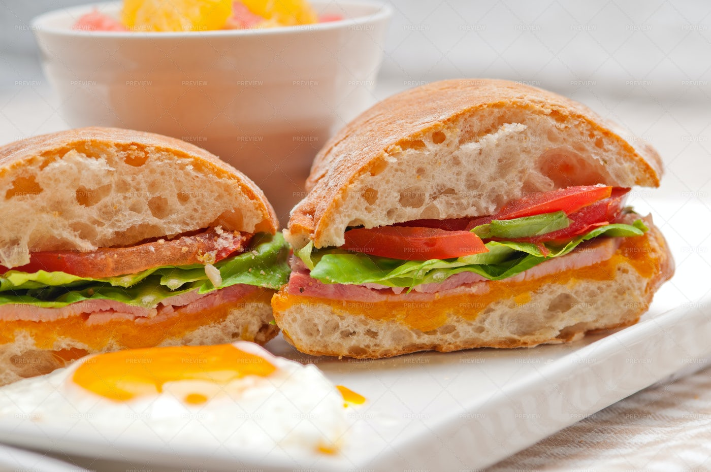 Ciabatta Panini Sandwich: Stock Photos