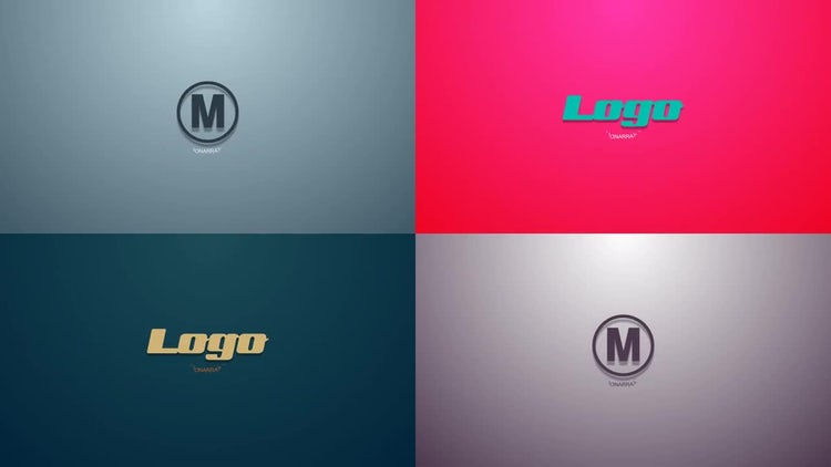 Simple shapes logo reveal: After Effects Templates