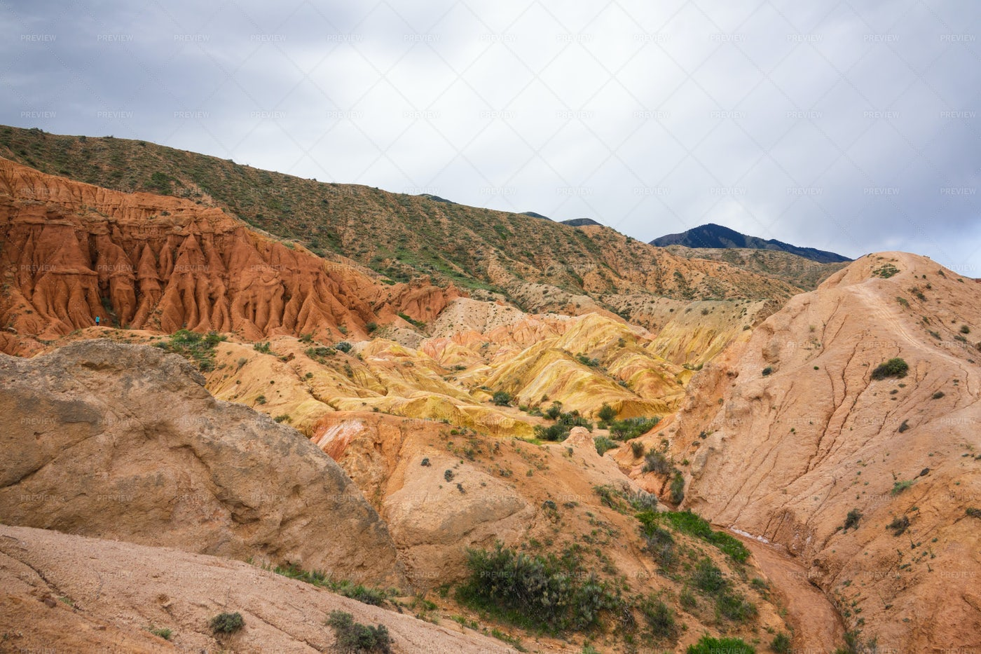 The Tops Of The Red Canyons: Stock Photos