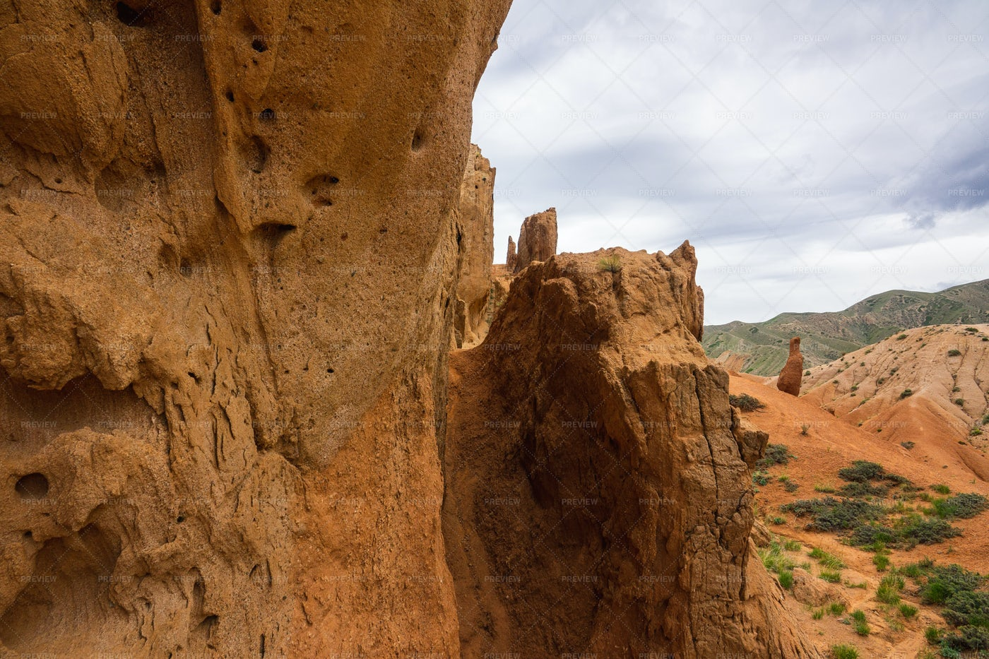 Red Canyon Rock: Stock Photos