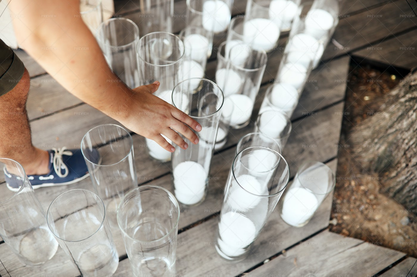 Candles In Glasses: Stock Photos