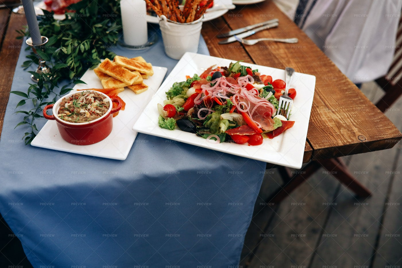 A Selection Of Appetizers: Stock Photos