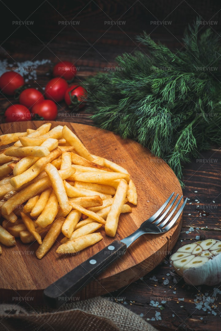 A Pile Of French Fries: Stock Photos