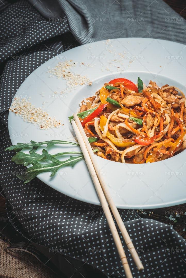 Chicken Noodles: Stock Photos