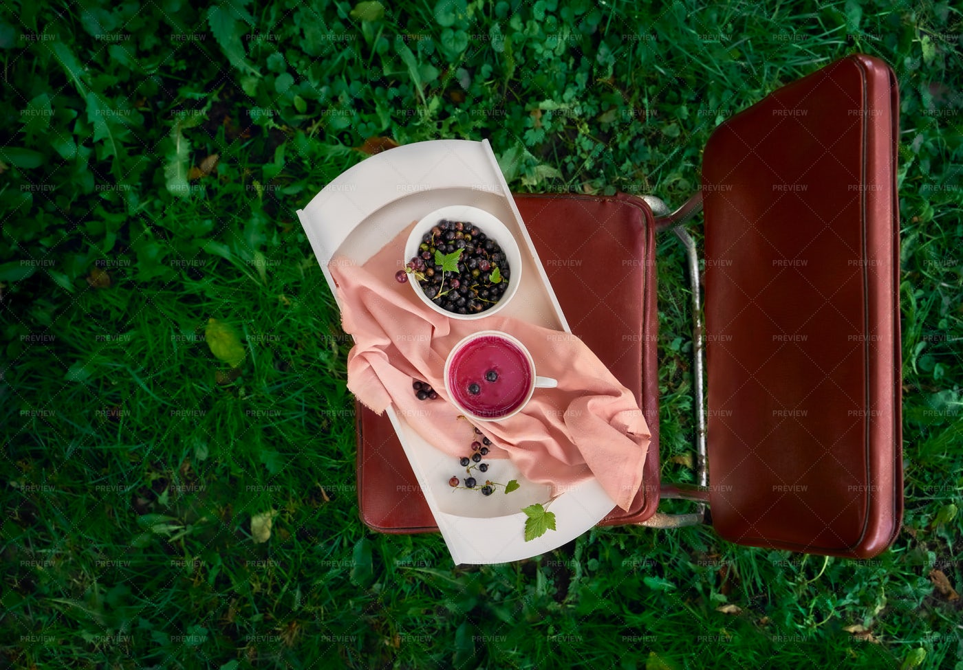 Summer Fruit Soup: Stock Photos
