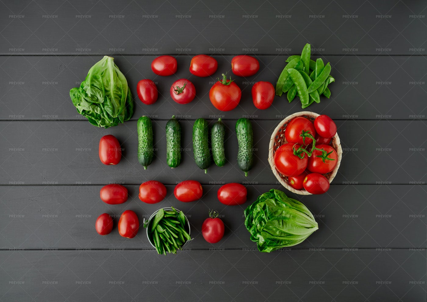 Vegetable Knolling: Stock Photos