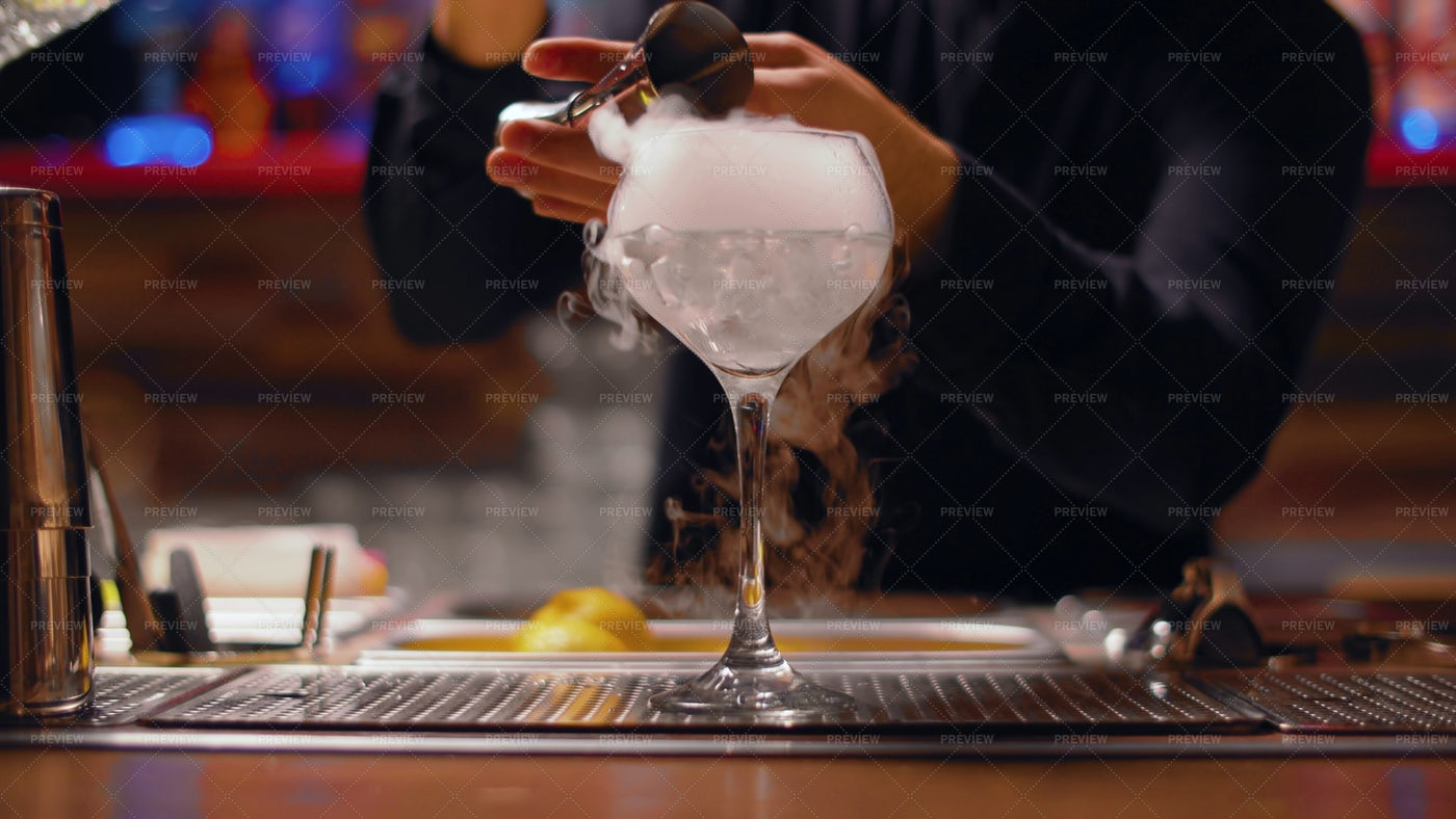Drink With Dry Ice: Stock Photos