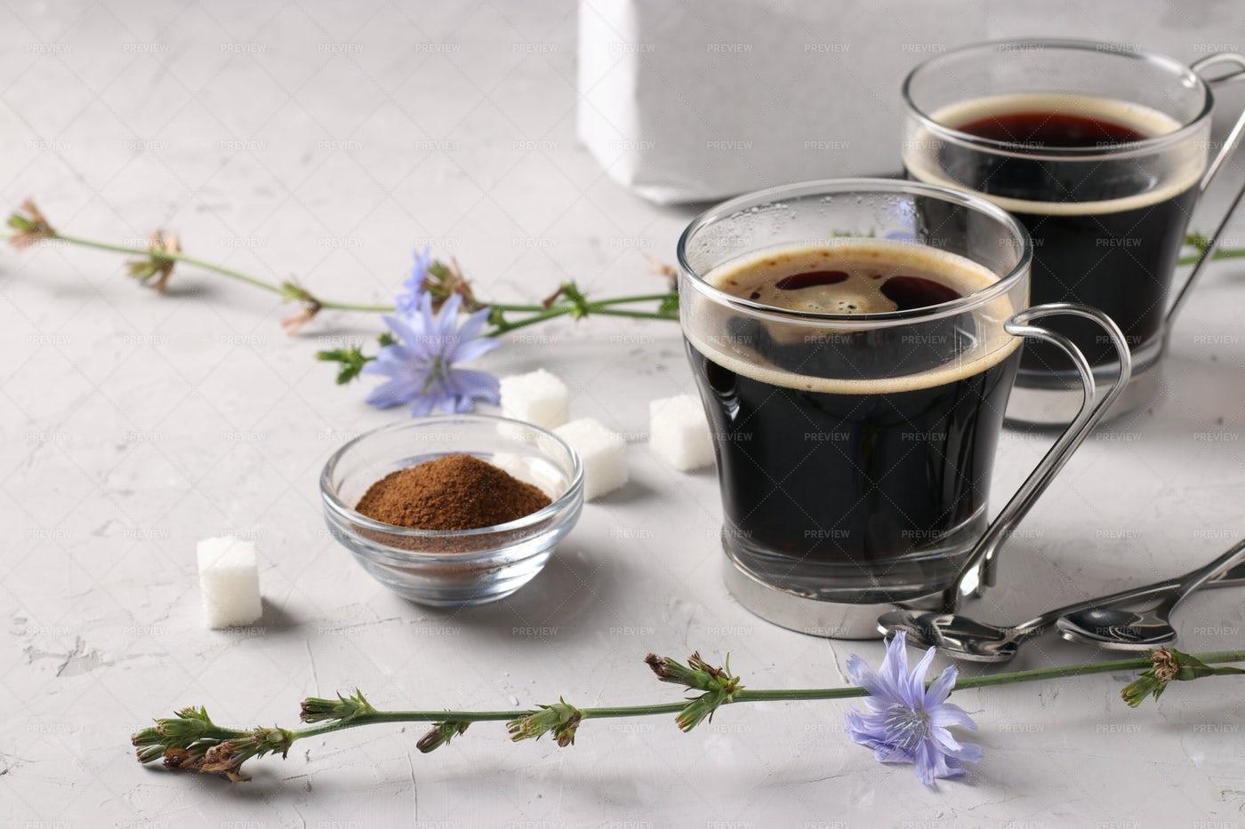 Healthy Chicory Beverage: Stock Photos