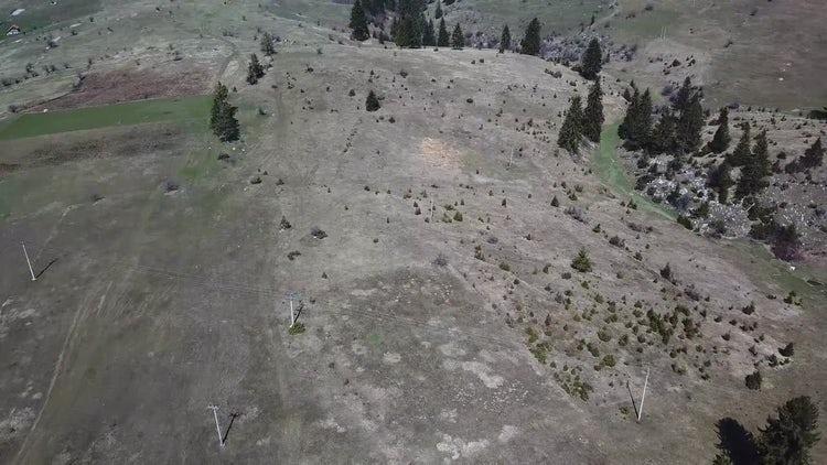 Mountainous Area Aerial View: Stock Video