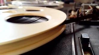 Reel-To-Reel Tape Recorder: Stock Footage