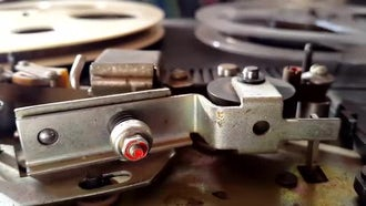 Old Tape Recorder In Action: Stock Footage