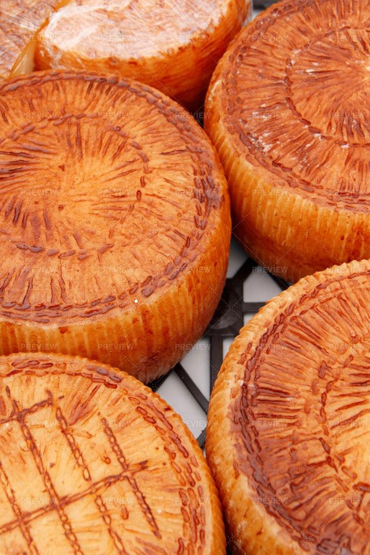 Cheese Wheels: Stock Photos