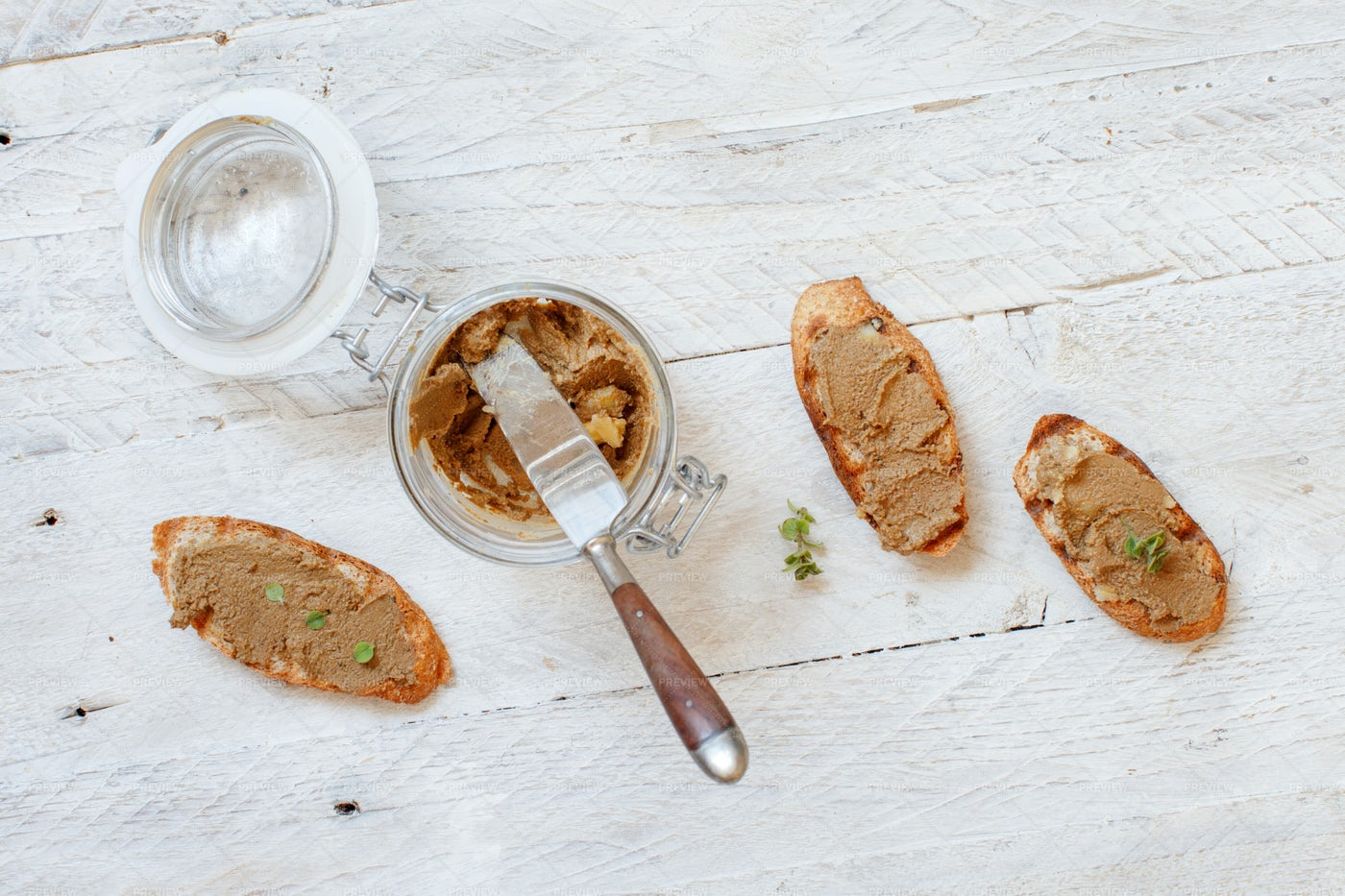 Sandwiches With Liver Pate: Stock Photos