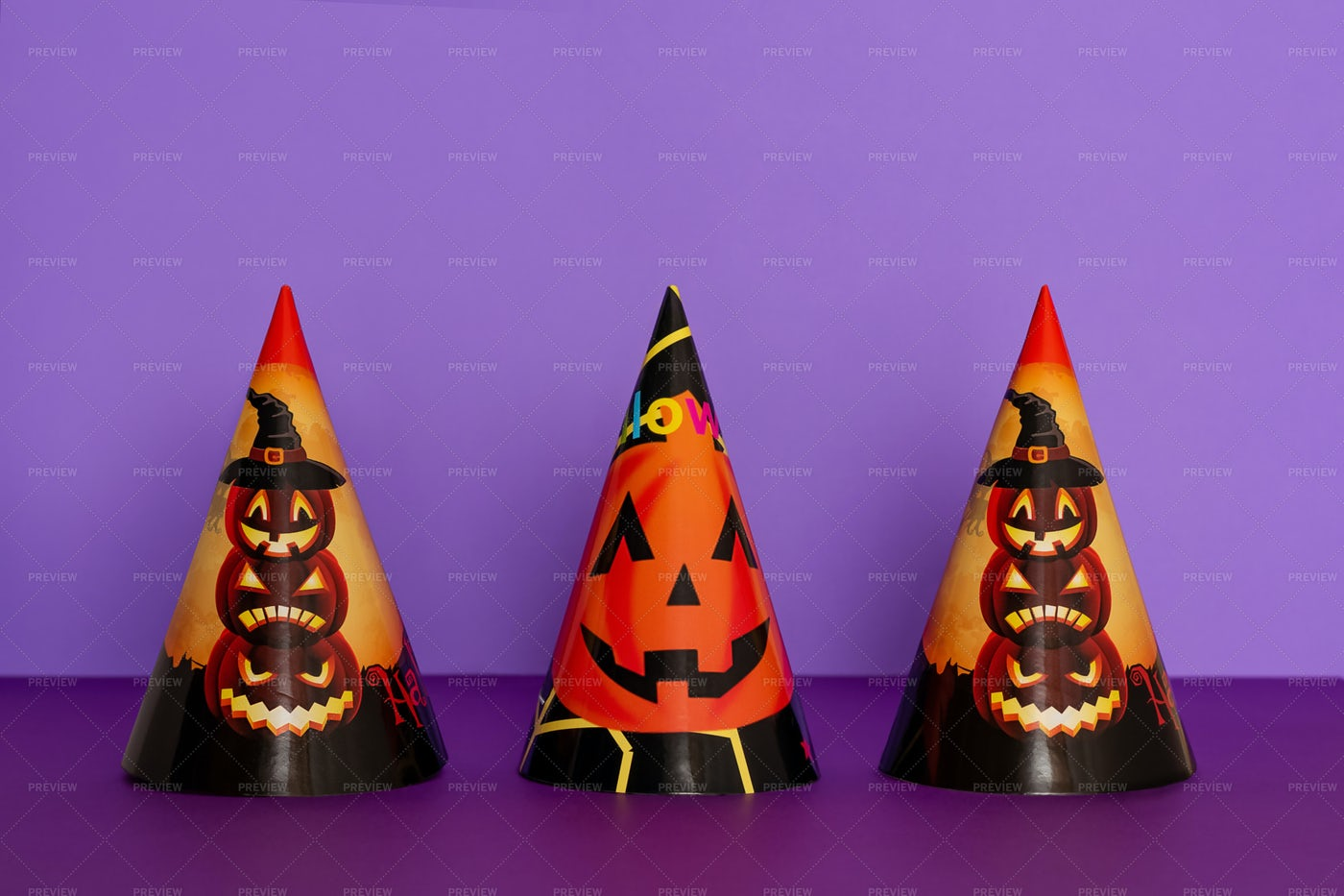 Halloween Party Hats: Stock Photos