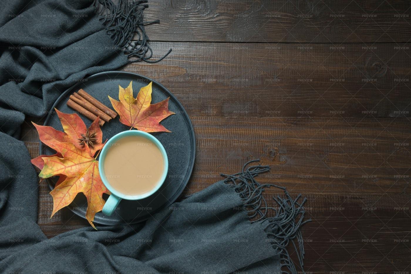 Coffee During Autumn: Stock Photos