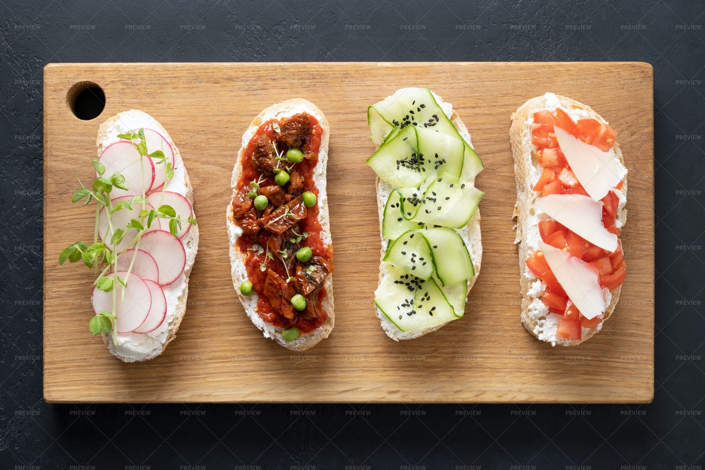 Sandwiches With Vegetables: Stock Photos