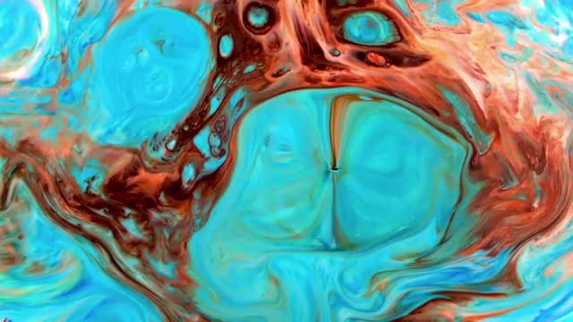 Colorful Ink Marble Explosion : Stock Video