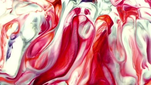 Mixture Of Colored Paints Marbling: Stock Video