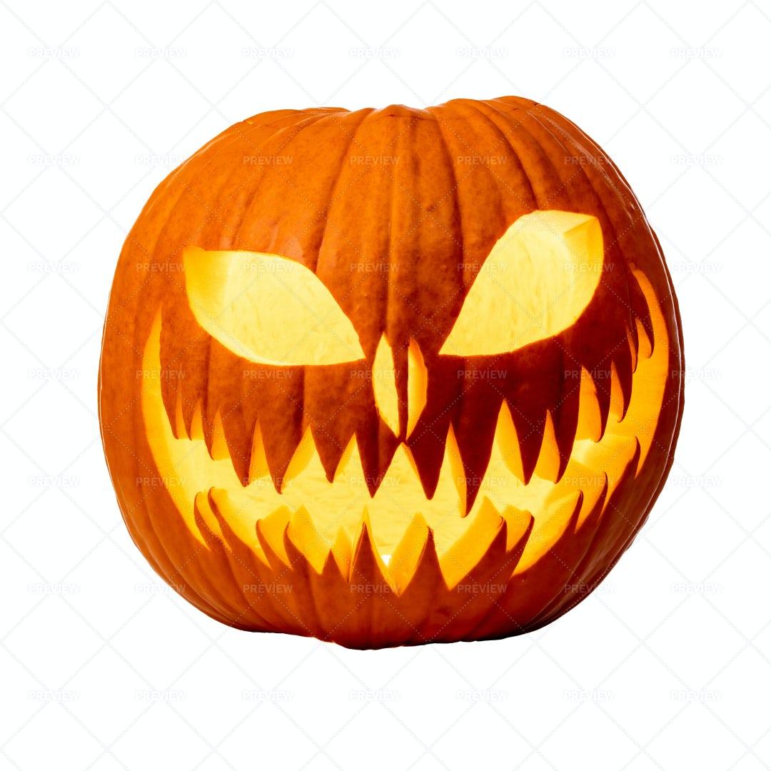 Scary Halloween Pumpkin: Stock Photos