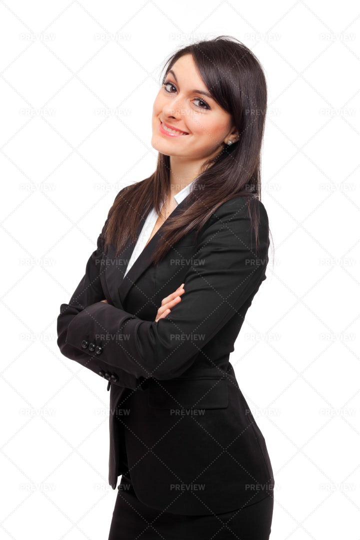 Businesswoman Folds Her Arms: Stock Photos