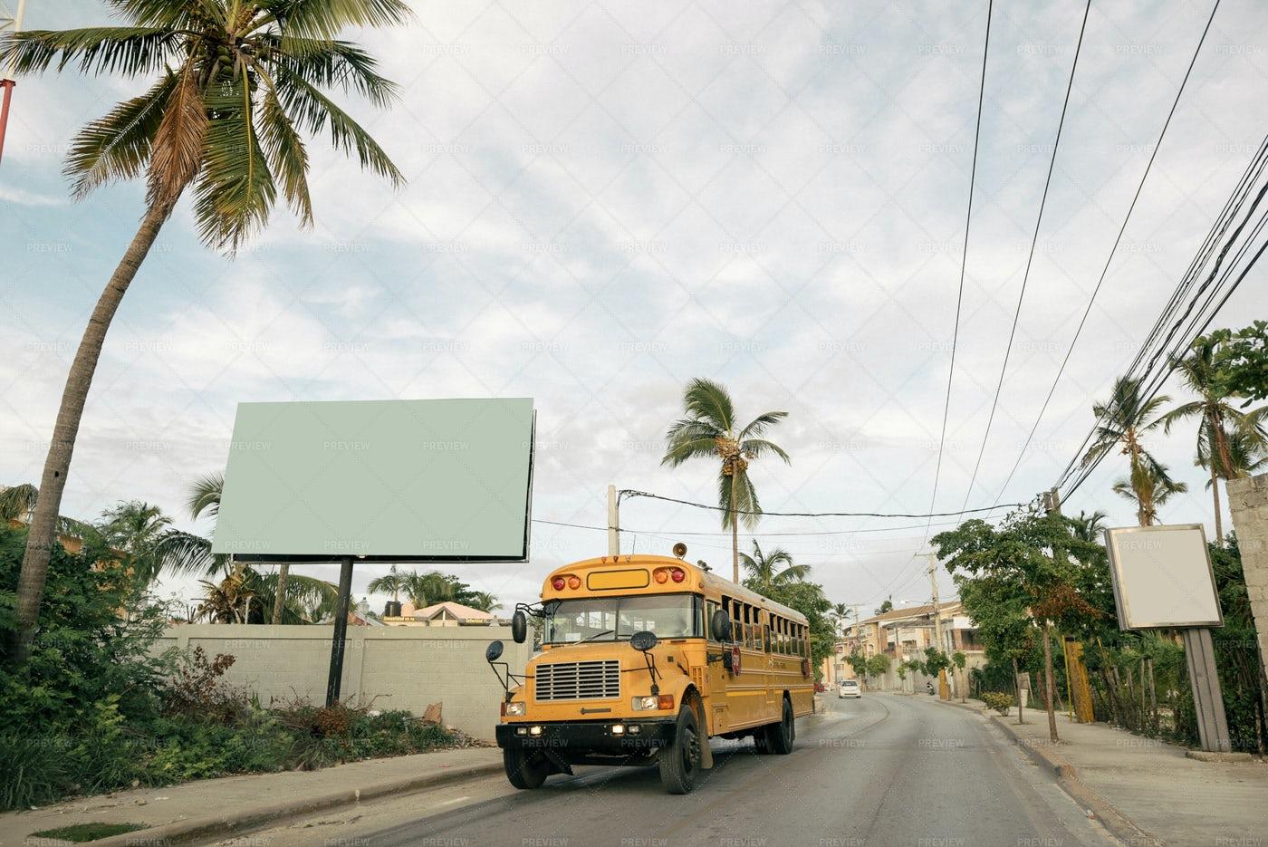 Punta Cana City Street: Stock Photos