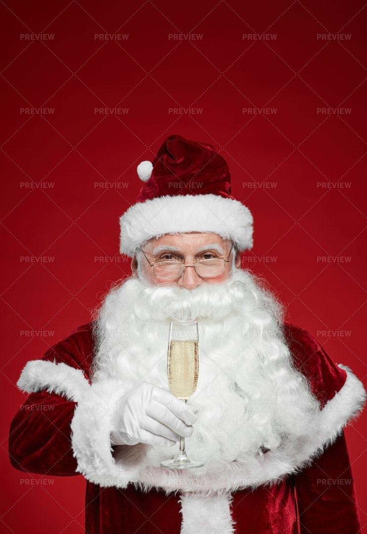 Santa Celebrating Christmas: Stock Photos