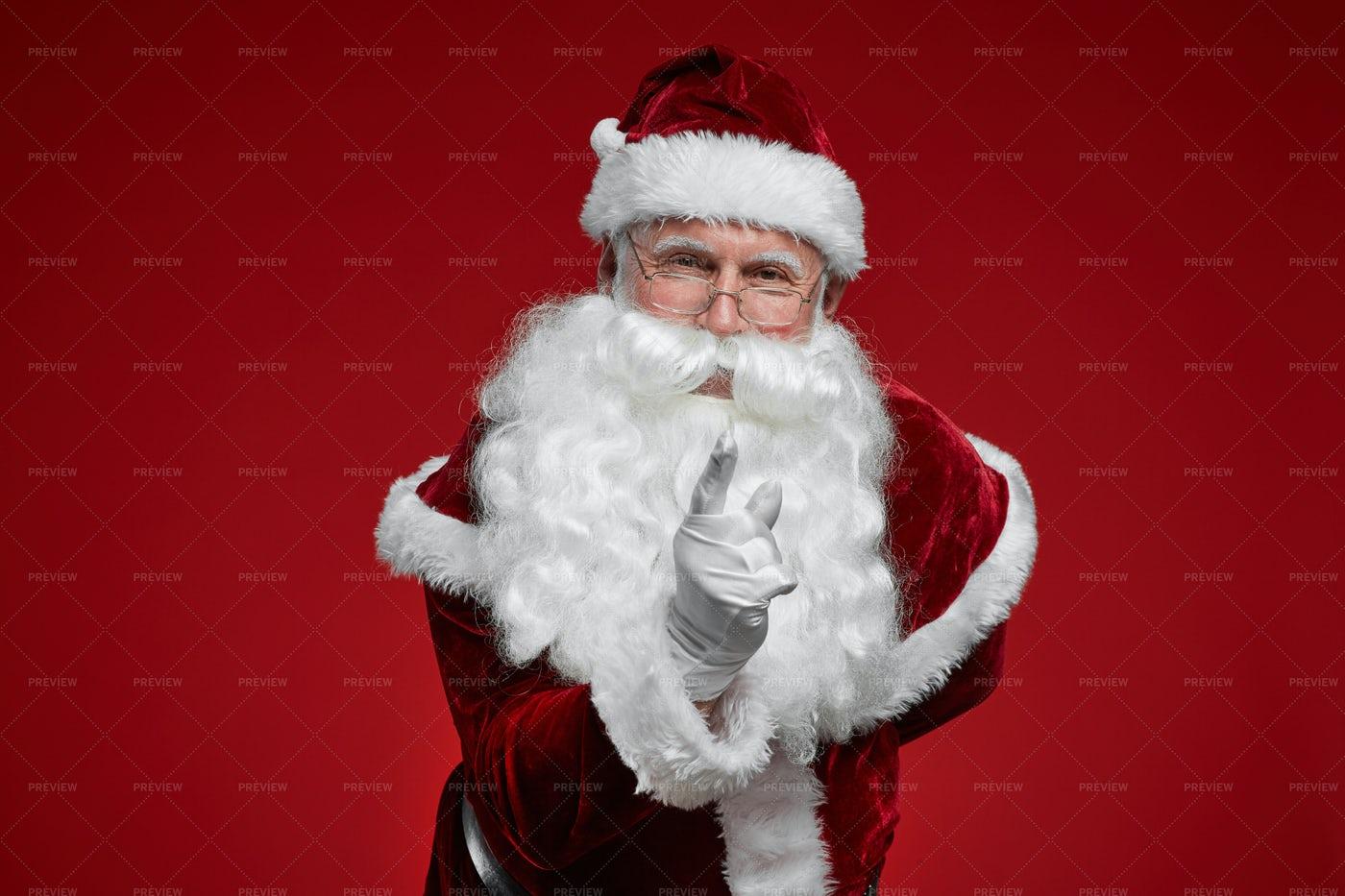 Santa Pointing At You: Stock Photos