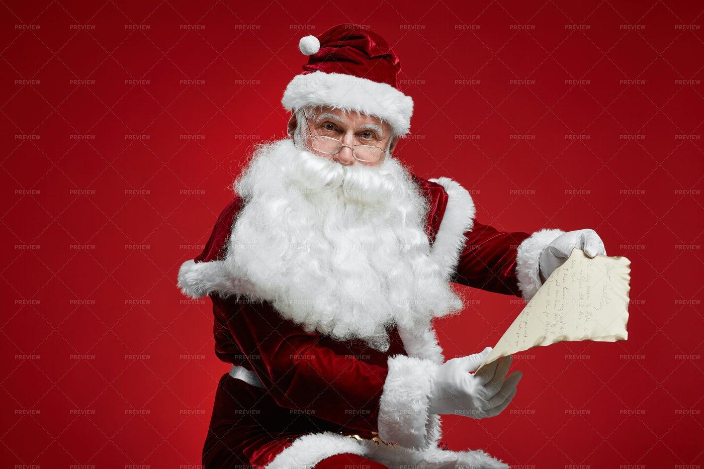 Christmas Letter From Children: Stock Photos