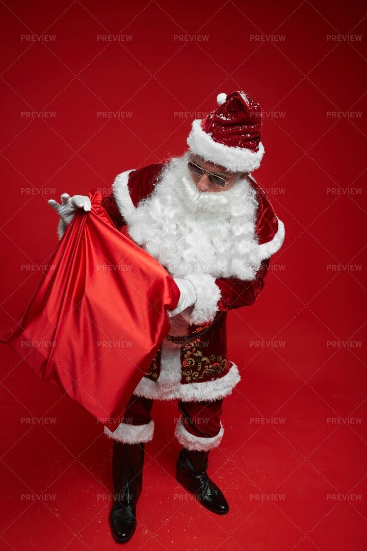 Santa Claus With A Gift Sack: Stock Photos
