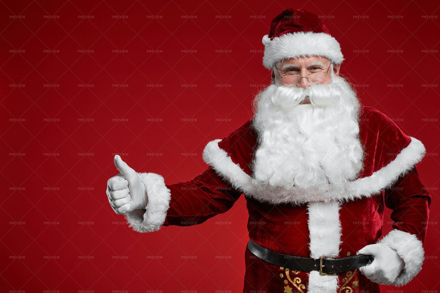 Santa Gives The Thumbs Up: Stock Photos