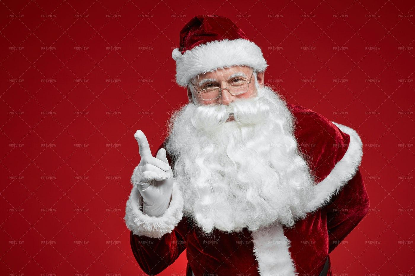 Santa Has An Idea: Stock Photos