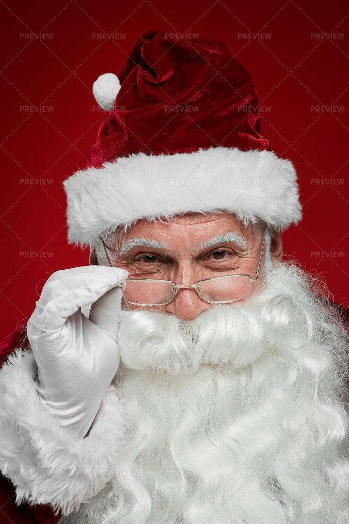 Santa With White Beard: Stock Photos