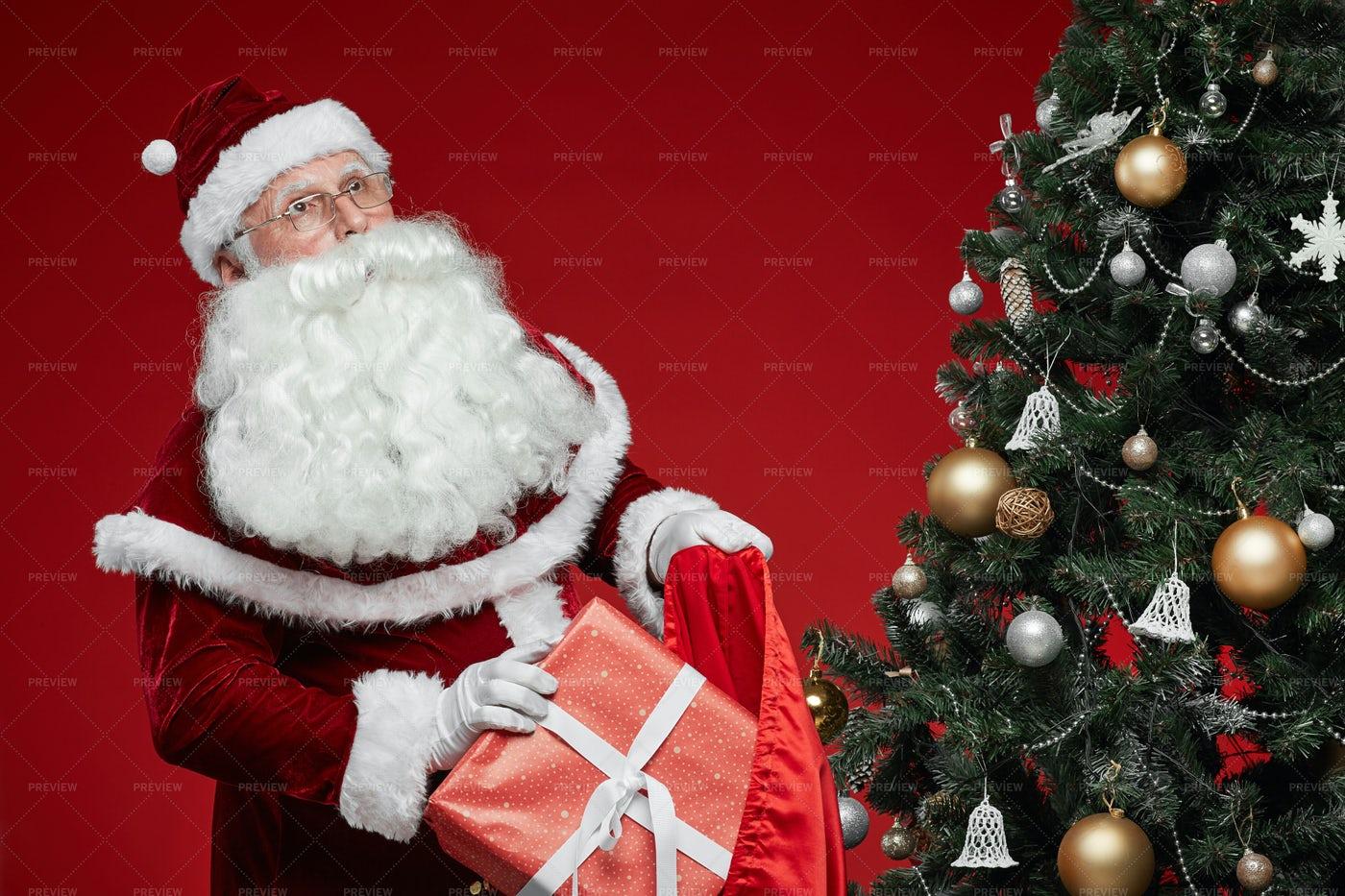 Santa Preparing Presents: Stock Photos