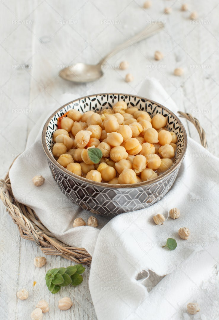 Bowl Of Chickpea Stew: Stock Photos
