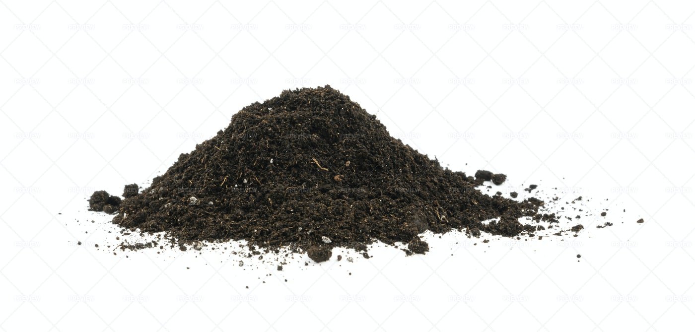 Heap Of Black Soil: Stock Photos
