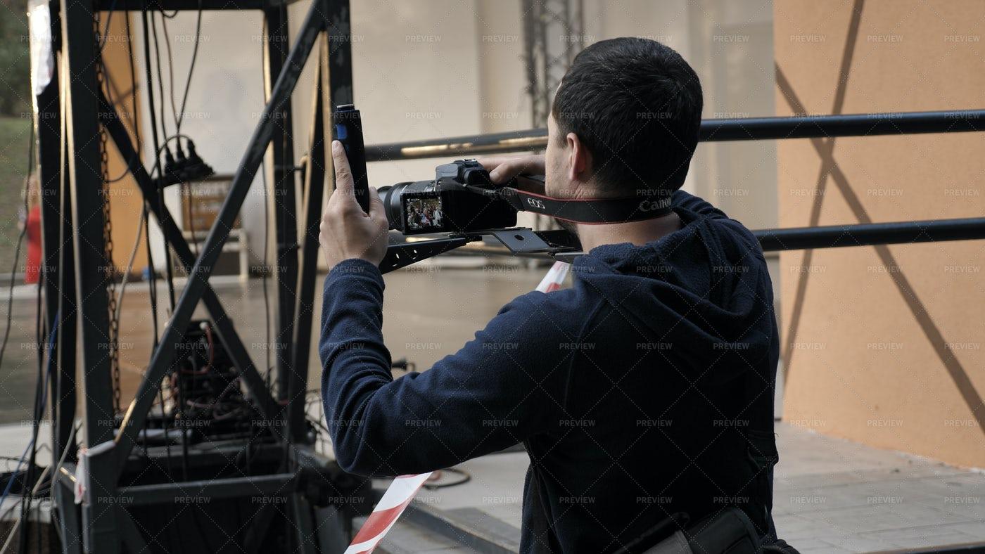 Independent Filmmaker: Stock Photos