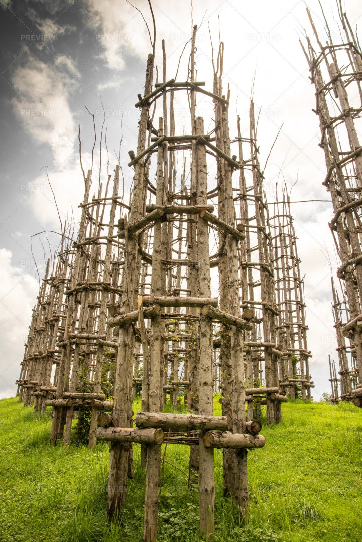 Tall Wooden Structures: Stock Photos