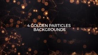4 Golden Particles Backgrounds: Motion Graphics