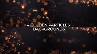 4 Golden Particles Backgrounds: Stock Motion Graphics