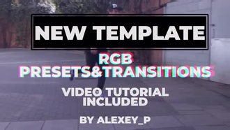 RGB Style. Presets And Transitions: Premiere Pro Templates